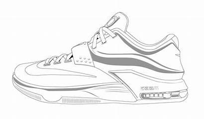Nike Shoe Drawing Coloring Getdrawings