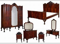 Antique Chippendale Furniture Set 1930s Italian Bedroom