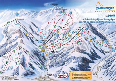 skikort og loybekort  zauchensee flachauwinkl