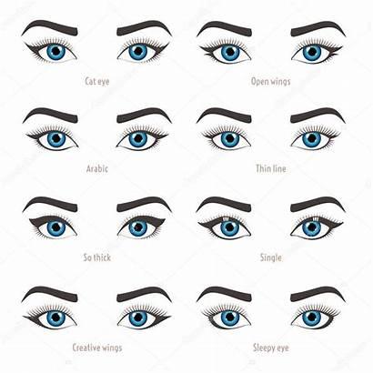 Eye Shape Types Eyeliner Makeup Vector Tutorial