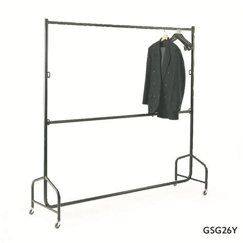 garment rails rail double duty medium bar mobile coat csi 1200l equipment systems
