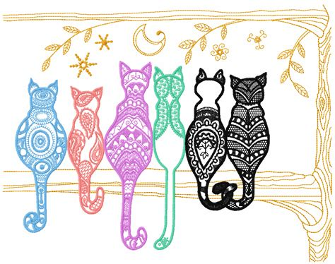 Free Applique Designs For Embroidery Machine by Rainbow Cats Free Embroidery Design Free Embroidery