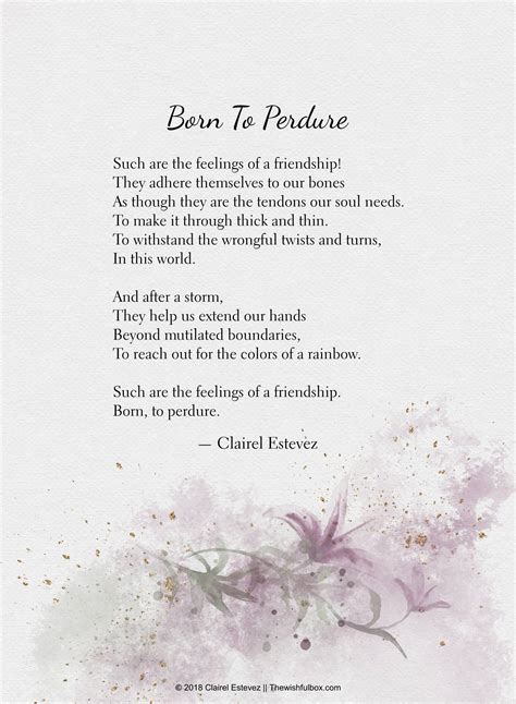Beautiful Poems About Friendship