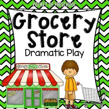 grocery store dramatic play  pocket  preschool tpt