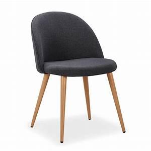 Chaise Bébé Scandinave : chaise scandinave tissu gris fonc lot de 4 ~ Teatrodelosmanantiales.com Idées de Décoration