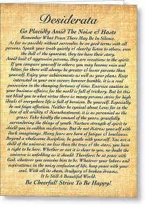wedding shower poems desiderata by max ehrmann on fossil paper tapestry