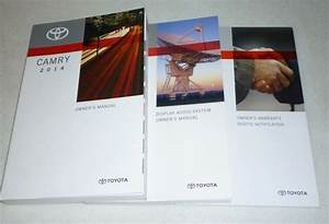 2014 Toyota Camry Owners Manual Set 14  Display Audio Guide L Le Se Xle Sport V6