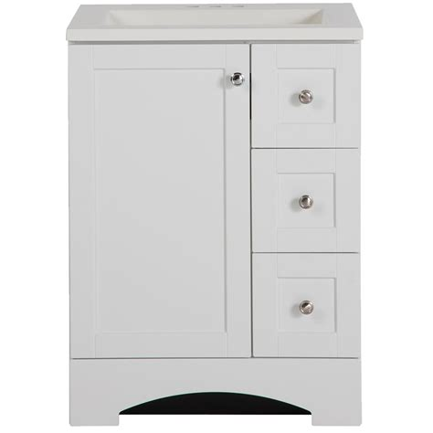 glacier bay bathroom cabinets glacier bay lancaster 24 in w x 19 in d bath vanity and