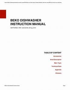 Dishwasher Photo And Guides  Beko Dishwasher Instructions