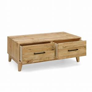 portland brand new recycled solid pine timber coffee table With pine coffee table with storage