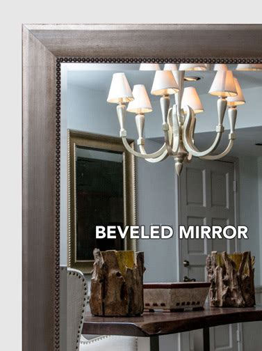 mal  silver gold framed mirror large mirror