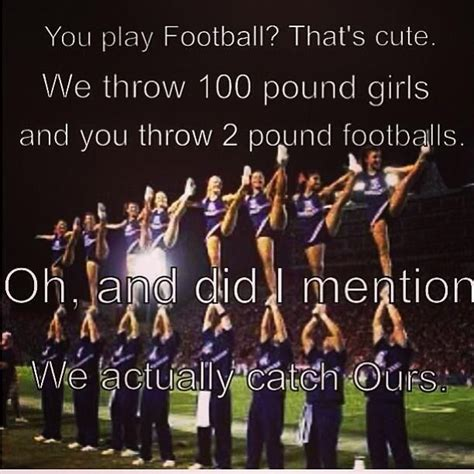 funny cheerleading quotes sayings