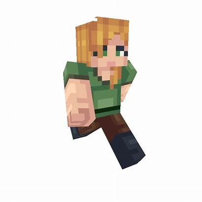 Skin Minecraft Alex Character Steve Dance