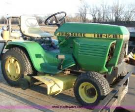 John Deere 214 Riding Lawn Mower With Attachments