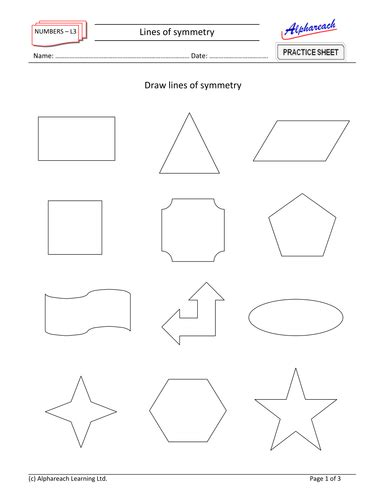 maths lines  symmetry teaching resources