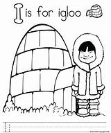 Igloo Coloring Alphabet Letter Printable Pages Sheet Letters Prints Getcoloringpages Getcolorings sketch template