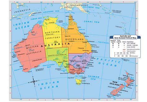 map  australia   zealand places