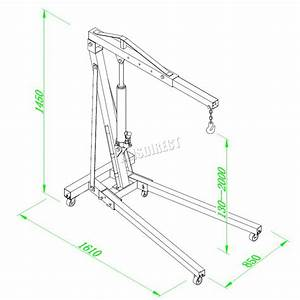 Foxhunter 1 Ton Hydraulic Folding Engine Crane Hoist Lift