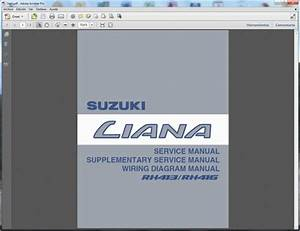 Suzuki Liana  Rh413-rh416  - Service Manual