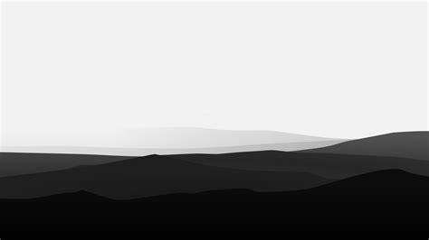 minimalist mountains black  white hd artist