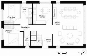 plan maison 2 chambres et mezzanine ooreka With plan maison 1 chambre