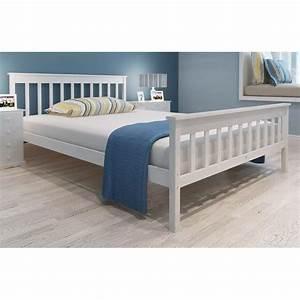 Lit 140 X 200 : acheter lit en pin blanc 200 x 140 cm avec matelas pas cher ~ Teatrodelosmanantiales.com Idées de Décoration