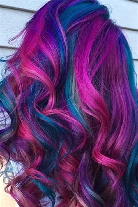 rainbow hair ideas  pinterest dyed hair