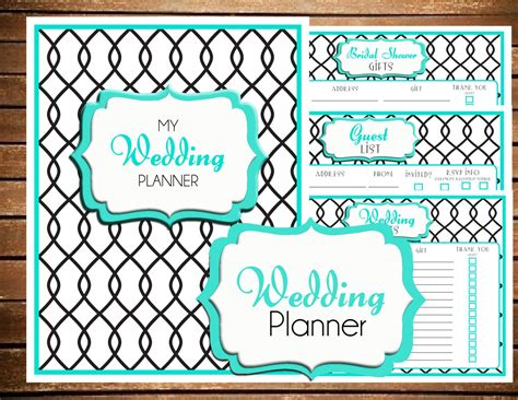instant  wedding planner printable