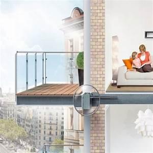 frei auskragender balkon im passivhaus energie fachberater With markise balkon mit tapete mit isolierung