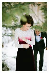Red Velvet Winter Wedding Dress
