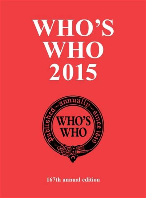 Who's Who 2015 (Who's Who) Bloomsbury Yearbooks