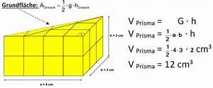 Grundfläche Berechnen Prisma : volumen von prismen landesbildungsserver baden w rttemberg ~ Themetempest.com Abrechnung