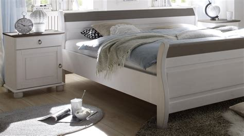 Schlafzimmer Set Oslo In Kiefer Massiv Weiß Und Lava