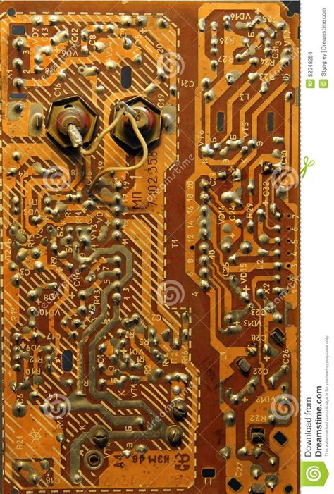 Old Printed Circuit Boards Stock Photo Image