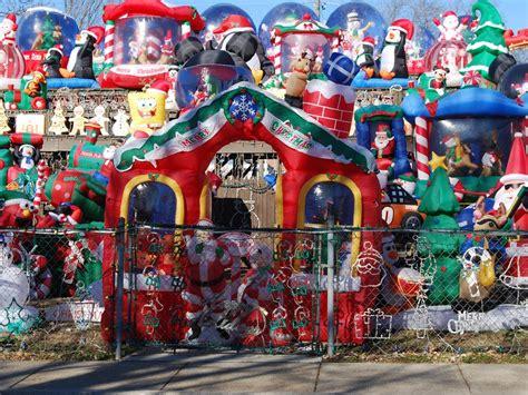 houses  crazy christmas decorations