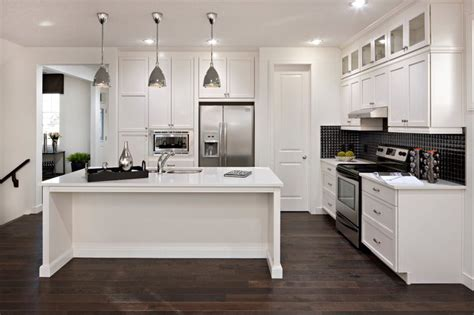 wood floors with white kitchen cabinets white kitchen cabinets modern kitchen cardel designs 9839