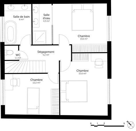 plan maison 4 chambres etage plan maison 3 chambres et terrasse ooreka