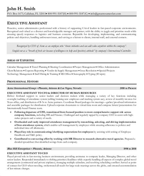 Executive Administrative Assistant Resume by 7 Senior Administrative Assistant Resume Templates Pdf
