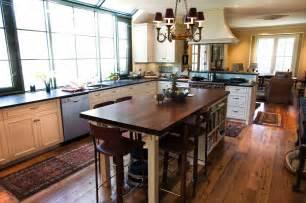 Reclaimed Longleaf Pine Flooring by Longleaf Lumber Reclaimed Kitchen With Walnut Countertop