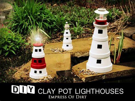 hometalk diy clay pot lighthouses