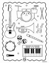 Instruments Musical Coloring Music Pages Printable Instrument Orchestra Primary Preschool Lessons Themed Nod Kiddos Class Lds Worksheets Kindergarten Xylophone Musicals sketch template