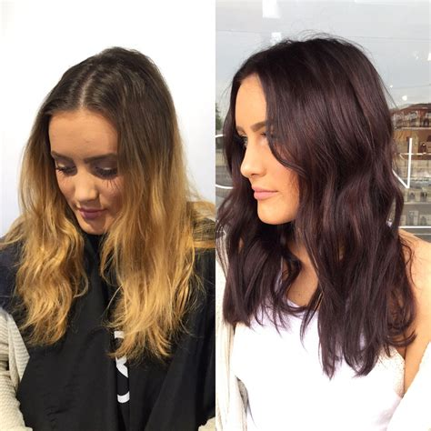 Before And After To Brown Hair before and after hair color transformation before and