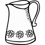 Jug Clipart Drawing Coloring Milk Clip Pages
