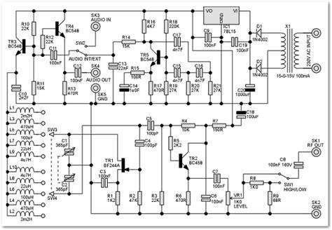 rf signal generator circuit schematic rf in 2019 circuit circuit diagram digital