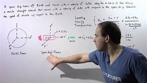 Lorentz Velocity Transformation Example