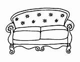Couch Coloring Sofa Chesterfield Pages Colorear Coloringcrew Sketch Template sketch template