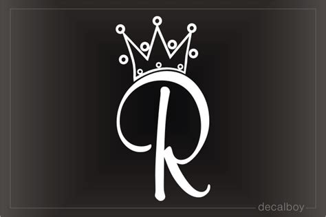 crown letters decals stickers decalboy
