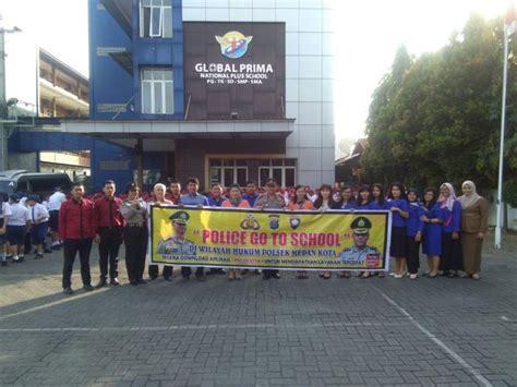 Zakat, infaq, shodaqoh, dan wakaf: Polsek Medan Kota Goes To School ke Yayasan Global Prima ...