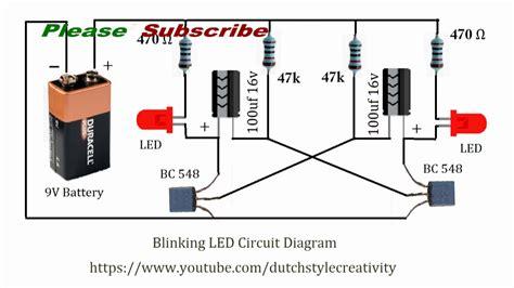 Learn How Make Blinking Led Lights Circuit Blink