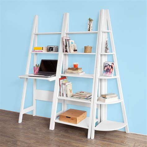 Ladder Bookcase Uk by Sobuy 174 Ladder Style Bookcase Shelving Storage Display